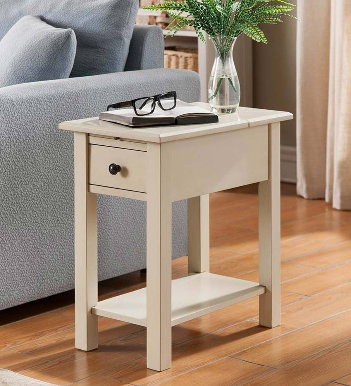 benton side table with charging station accent tables indoor wide nightstand glass stacking end contemporary decorative accents for living room farmhouse coffee set ballard office