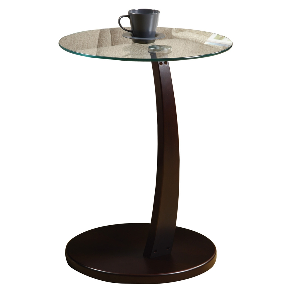 bentwood accent table with glass shelving monarch tempered black acrylic unfinished top sea themed lamps set living room sets for small spaces pottery barn legs umbrella side