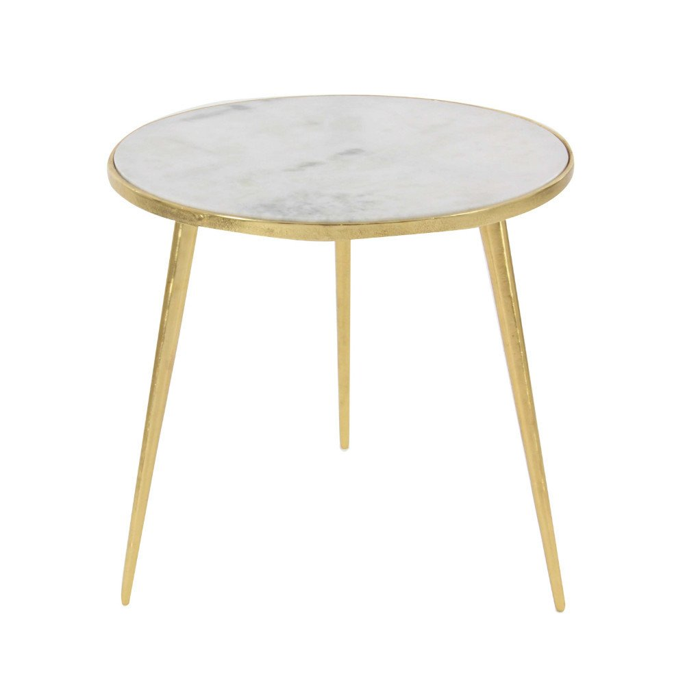benzara iron marble accent table free shipping today classic simplify pedestal pottery barn red console nesting tables with drawer white round bedside avenue six piece chair and