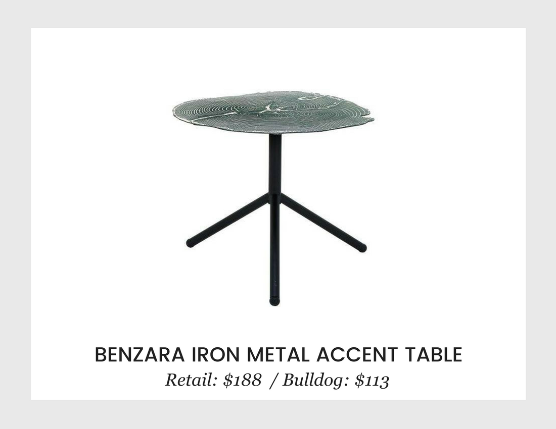 benzara iron metal accent table bulldog liquidators zara with tablecloth teal accessories echo dot folding couch gold finish coffee green console decor accents oversized
