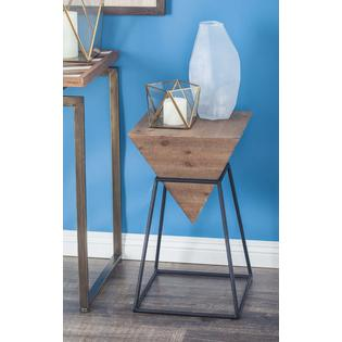 benzara square shaped wood metal accent table prod blue outdoor stacking side tables ice bucket holder oblong cover teal furniture clear acrylic coffee set portable rabat light