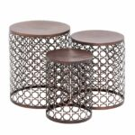 benzara the floral metal accent table set kitchen outdoor dining bar glass coffee with brass legs nesting console tables small wine pottery barn square malm nightstand green 150x150