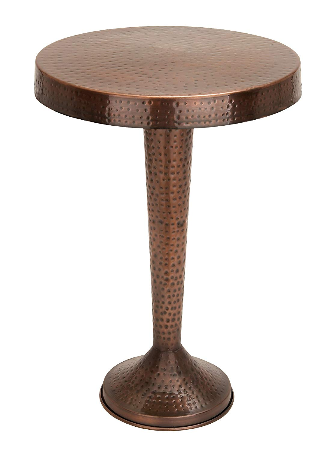 benzara vintage inspire metal bronze accent table knurl inch kitchen dining computer tables for home barn door dimensions mirrored side threshold trim barbie furniture big coffee