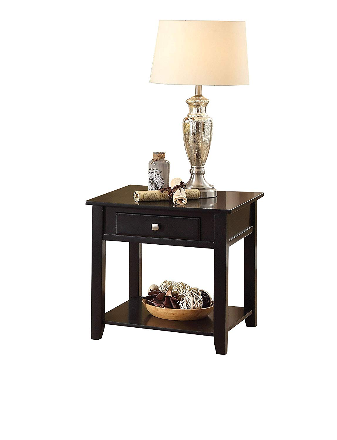 benzara wooden end table with drawer black better homes and gardens mercer accent vintage oak kitchen dining quality linens modern nest tables white gold coffee solid pine