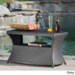 berkeley outdoor wicker side table with umbrella hole christopher knight home free shipping today hairpin leg desk tennis robot glass coffee storage sewing hampton furniture 150x150