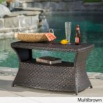 berkeley outdoor wicker side table with umbrella hole christopher knight home free shipping today industrial metal bedside carsons furniture dorm accessories circular cotton 150x150