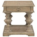 bernhardt campania square end table with turned legs reeds products color leg accent threshold campaniasquare vintage reclaimed furniture bath waste small nautical lamp shades sei 150x150
