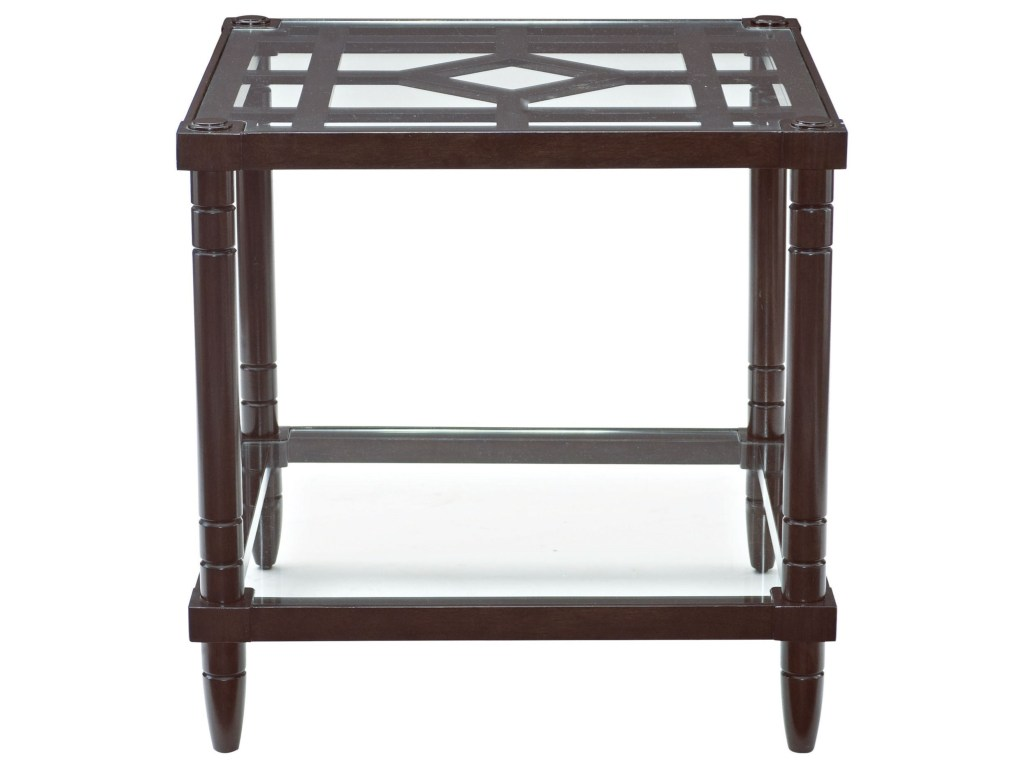 bernhardt ford fretwork end table with glass top and products color accent threshold fordfretwork night lamp industrial cart target swivel chair hampton patio furniture small