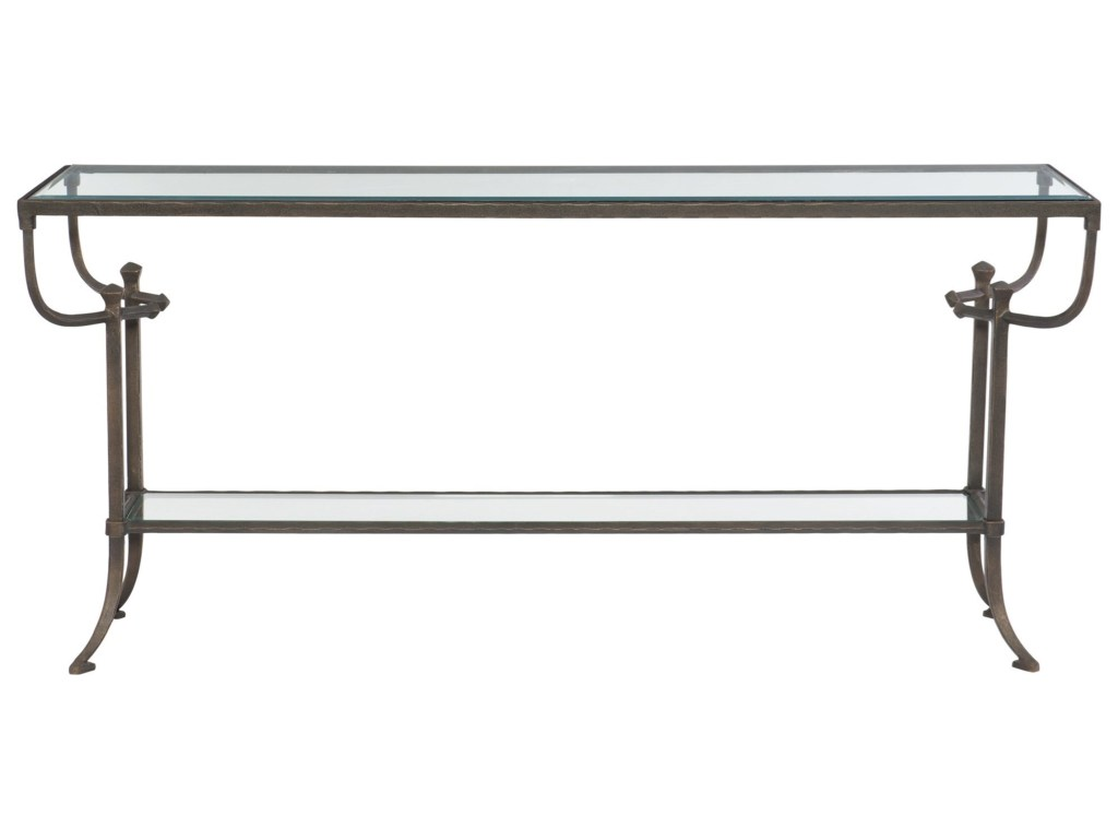 bernhardt hawthorne contemporary console table products color glass top accent bronze hawthorneconsole high patio with umbrella pub dining nautical kitchen shade and light small