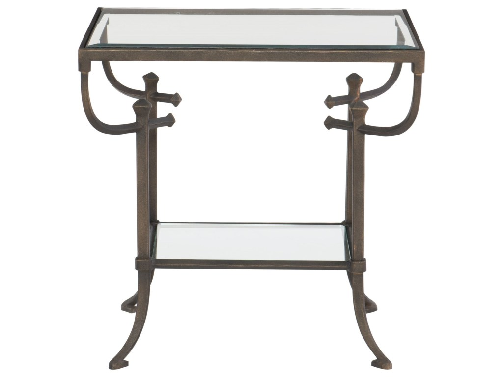 bernhardt hawthorne contemporary rectangular end table wayside products color glass top accent hawthorneend shabby chic ture frames ashley furniture coffee and sets vita silvia