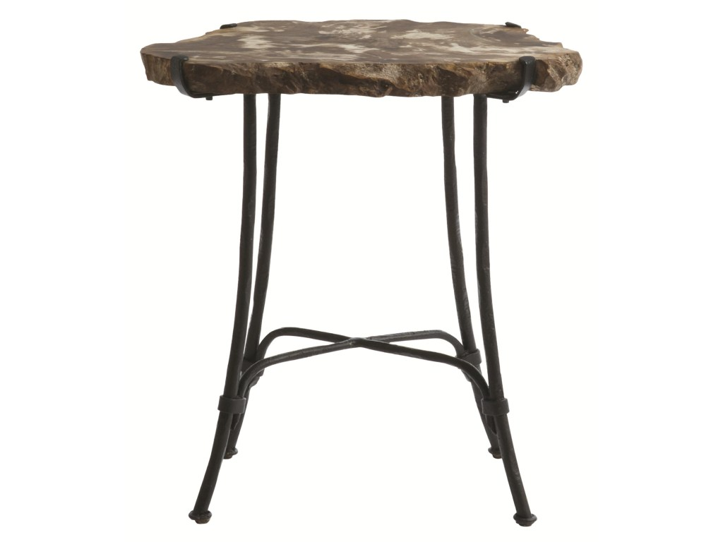 bernhardt interiors accents petrified wood slab side table products color accent pieces with metal base dunk bright furniture end tables battery operated lamp design glass console