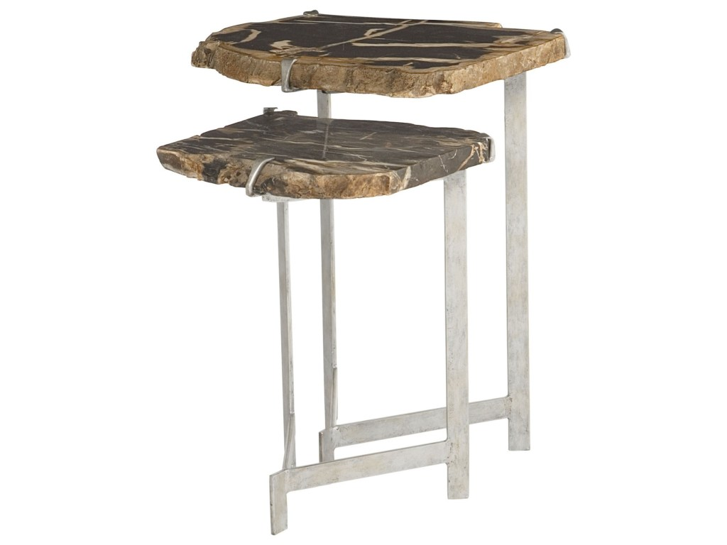 bernhardt interiors ardelle nesting tables with petrified wood products color accent table ardellenesting wine holder wrought iron legs vintage inspired couch inch end telephone