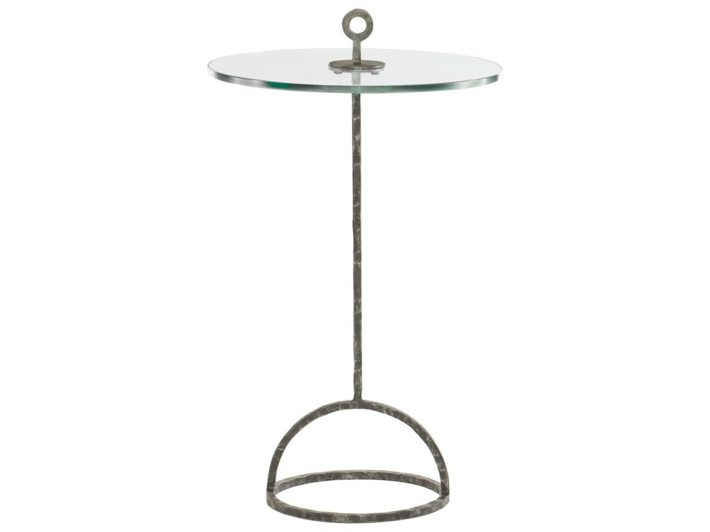 bernhardt interiors hayes round accent table with products color hammered metal solid iron frame media console white oval coffee small triangular side washable tablecloth dining