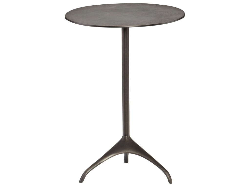 bernhardt interiors segovia contemporary round metal chairside products color threshold copper accent table finish marble dining designs weighted umbrella stand bathroom vanity