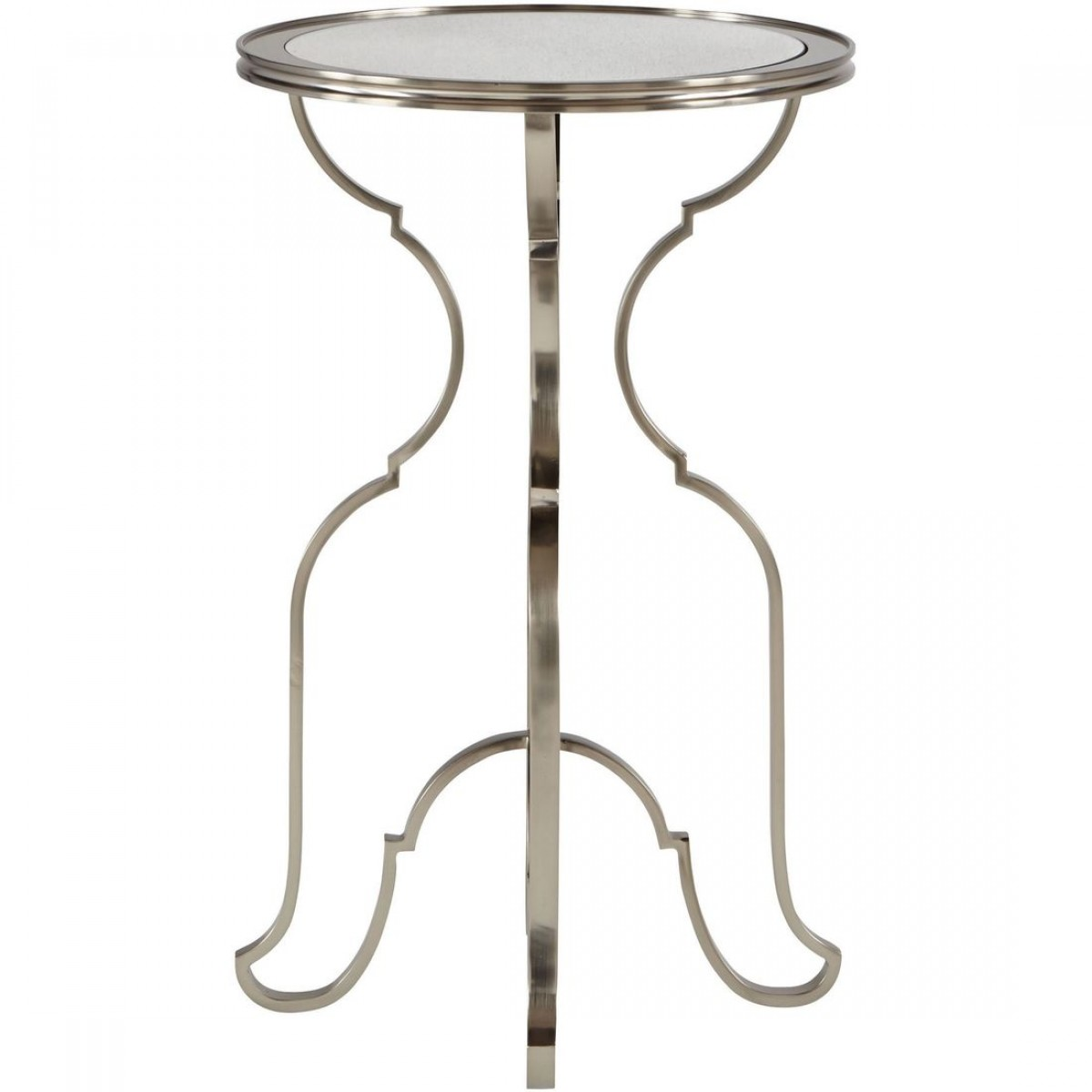 bernhardt laurel round metal accent table outdoor cream linen tablecloth pedestal off white coffee chair patio set modern lamps for living room build side mosaic outside small
