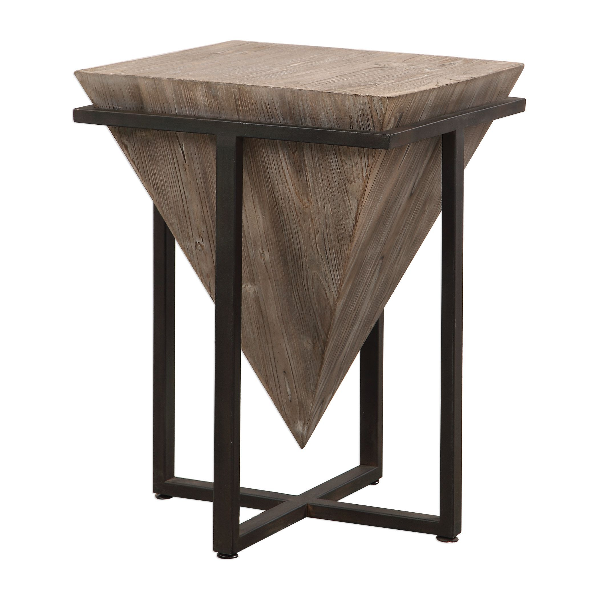 bertrand contemporary gray wash wood accent table uttermost copper mini coffee antique marble end tables champagne mirrored furniture oval glass top folding chair patio umbrella