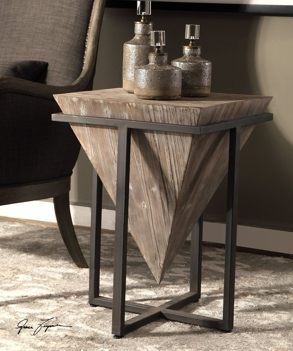 bertrand wood accent table products grey pottery barn night tables contemporary cocktail gray trestle dining round glass coffee large tilting patio umbrella pub and bistro sets