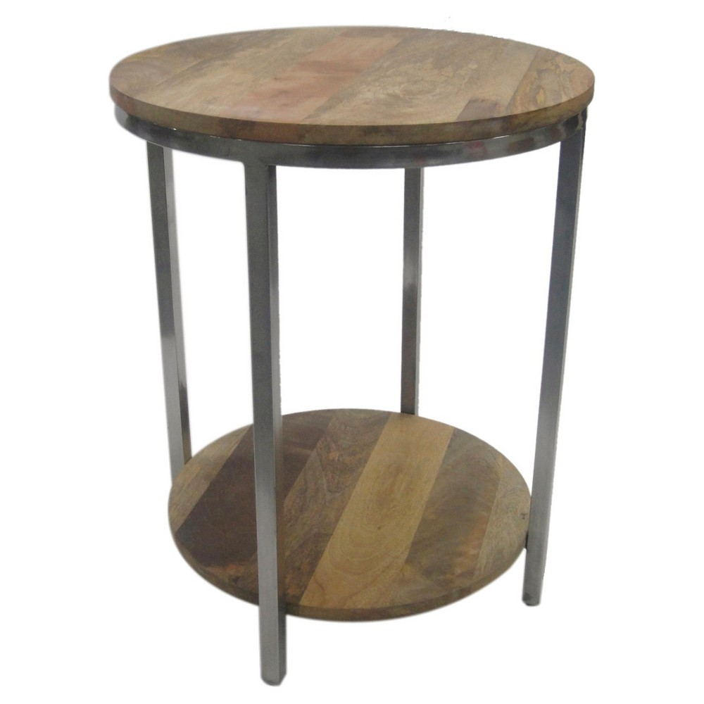 berwyn end table metal and wood rustic brown threshold two target accent these round pedestal dining mirrored furniture dale tiffany floor lamp mosaic tile coffee ashley set half