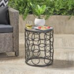 beryl outdoor inch grey finish ceramic tile side table gdf studio ikea cube storage unit bar legs elephant end tables with glass top cool nightstands silver accent round target 150x150