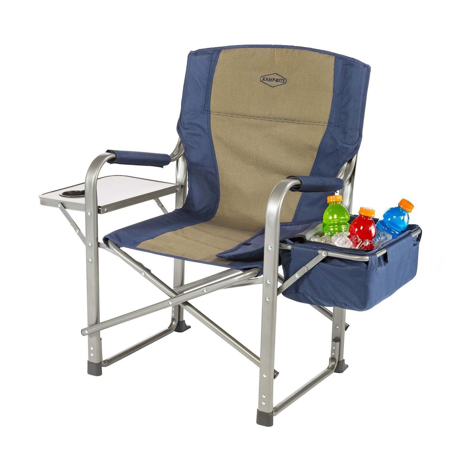 best camping chairs make every more comfy kamp rite director chair with side table and cooler outdoor beverage mirage mirrored accent mint end west elm square dining small couch