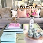 best coffee table decorating ideas and designs for homebnc pink marble accent glamorous mirrored with metallic art pottery barn bookcase turquoise furniture tables ikea very small 150x150