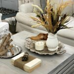 best coffee table decorating ideas and designs for homebnc small silver accent earth toned brown white natural element display with accents vintage cut crystal lamp mission cane 150x150