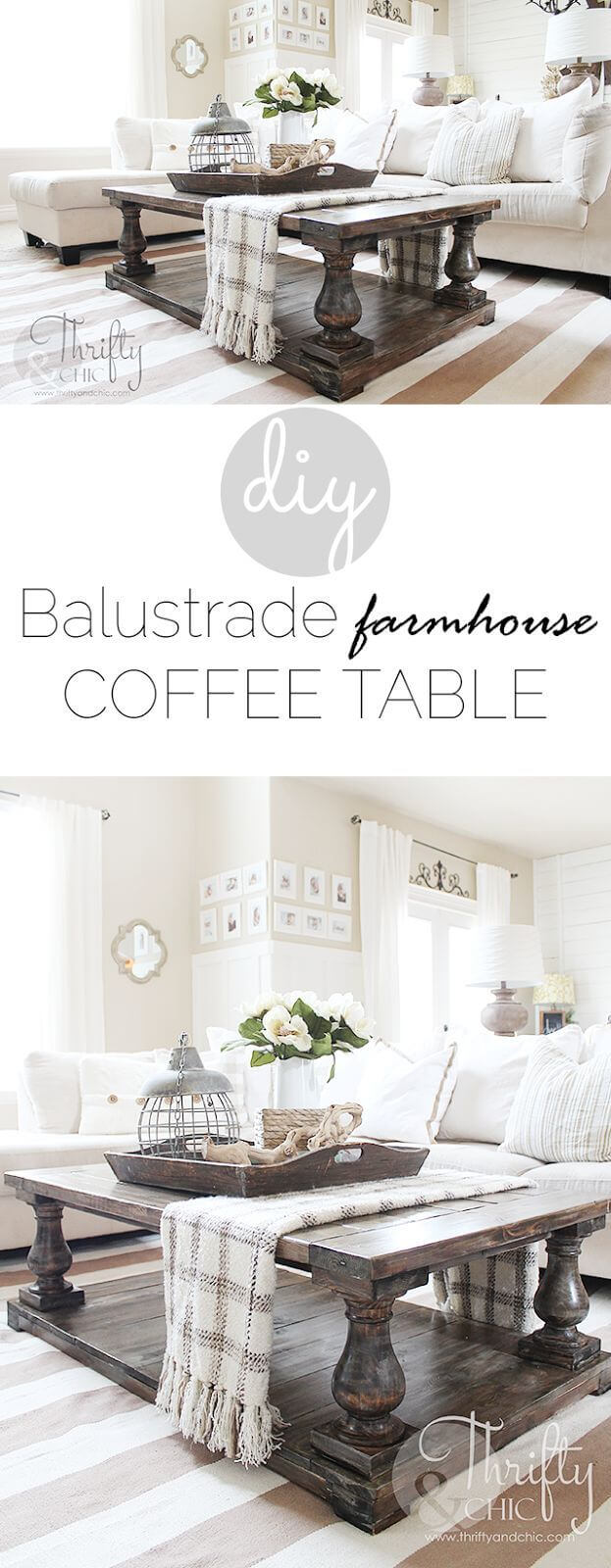 best diy farmhouse coffee table ideas and designs for homebnc accent decor big bold balustrade centerpiece end tables with electrical antique cabinet legs wood boho centerpieces