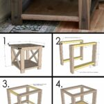 best diy farmhouse coffee table ideas and designs for homebnc small accent build your own rustic cube end tables tool storage cabinet smoked glass round foyer entry patterned lamp 150x150
