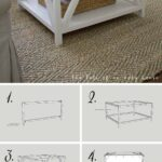 best diy farmhouse coffee table ideas and designs for homebnc small accent pretty cottage inspired bright white look silver wall clock trestle dining round foyer entry extra long 150x150