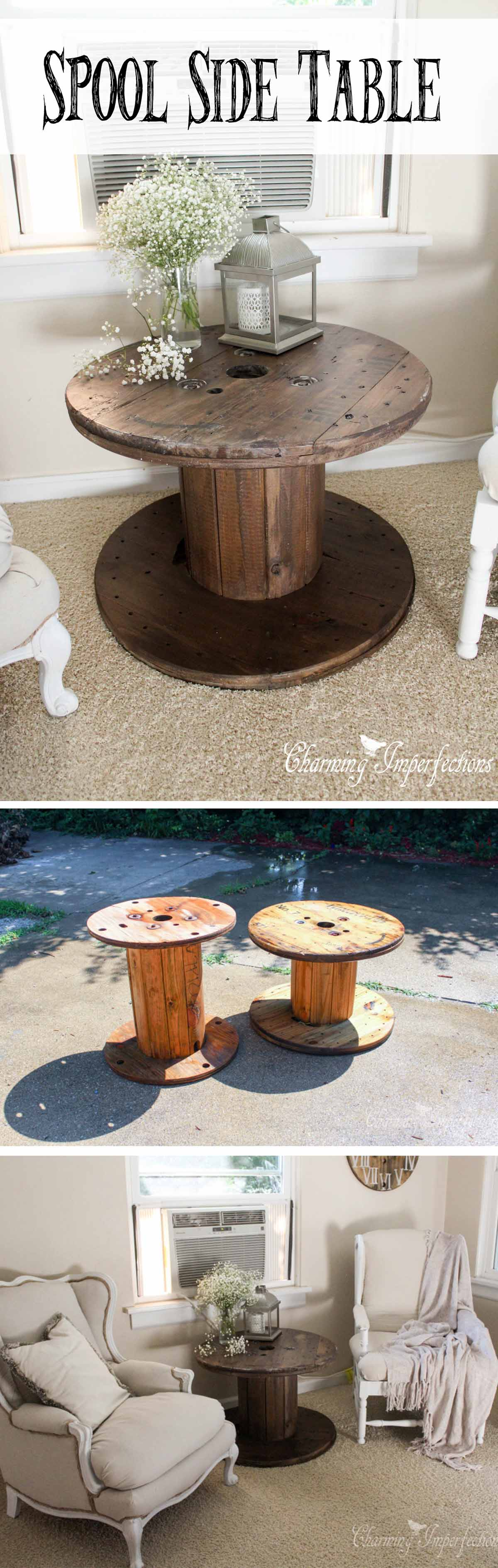 best diy farmhouse coffee table ideas and designs for homebnc white accent easy industrial wooden spool bar height pub set acrylic log end metal folding chairs target natural