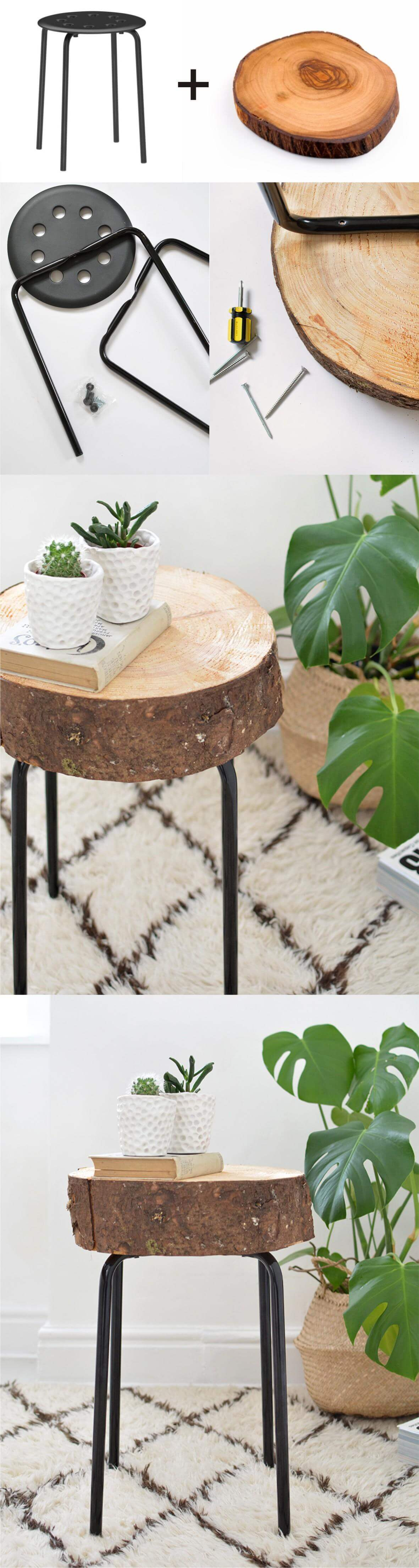 best diy side table ideas and designs for homebnc outdoor decor piece hand assembled wooden slice entryway home goods patio furniture covers round contemporary chrome lamps small