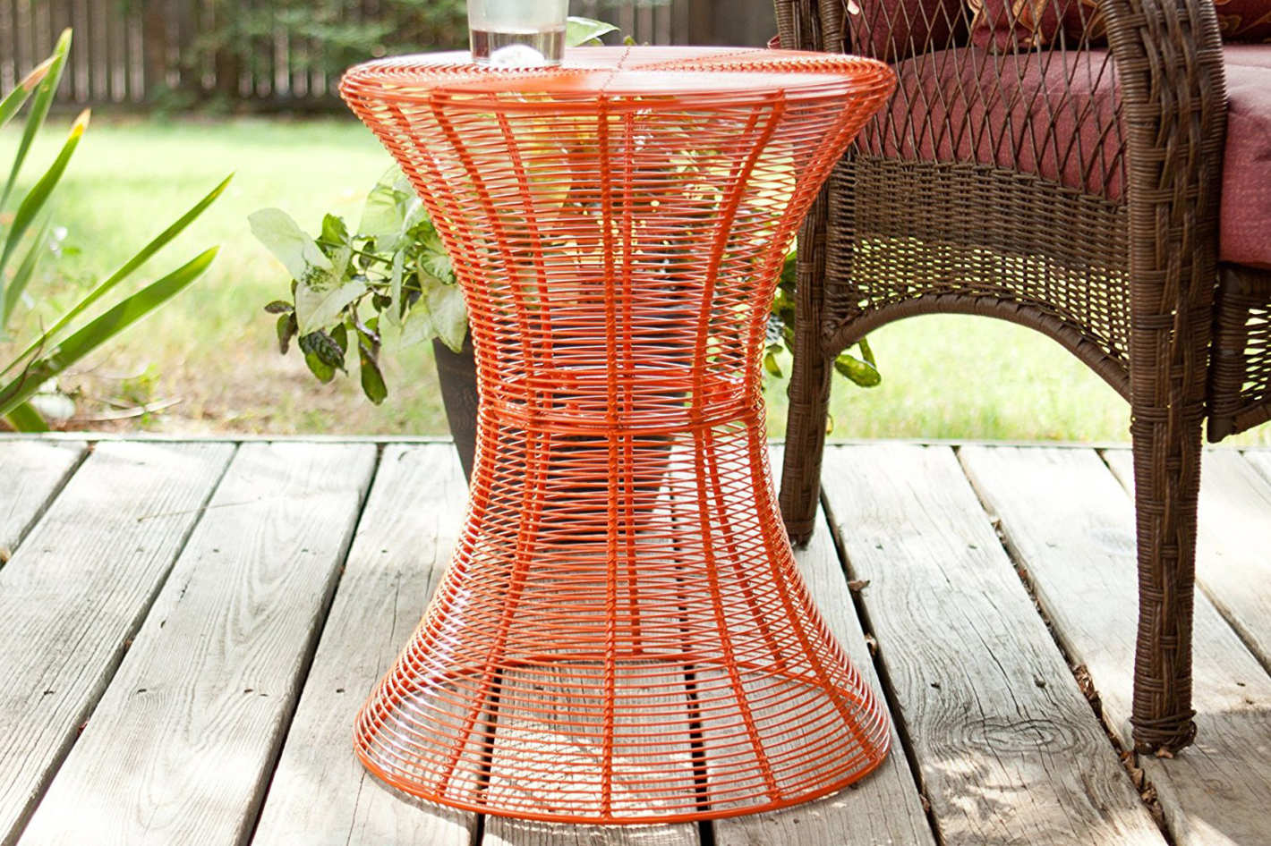 best end tables homebeez orange accent side round sei metal table small marble bunnings cane chairs glass top wine rack cloth adjustable furniture legs sitting room wood block