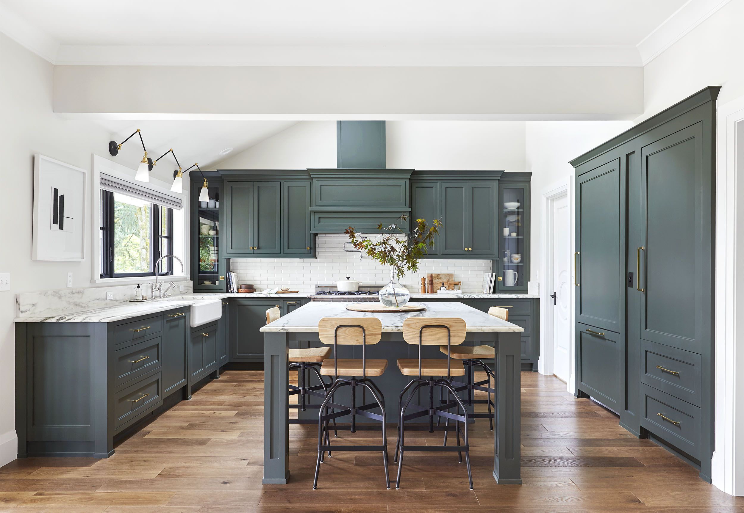 best green kitchens ideas for kitchen design emily henderson portland traditional with sage accent tables concrete and wood table wicker set red metal side inside door mats farm