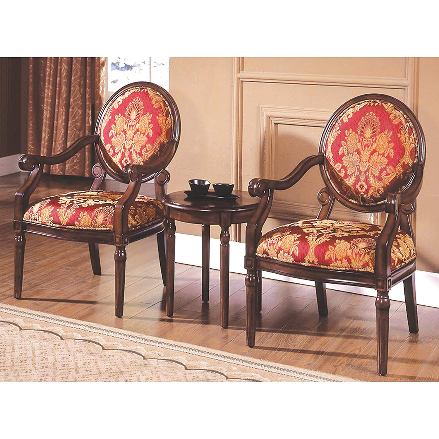 best master furniture maddison traditional accent chairs with table living room chair set kitchen dining decorative storage cabinets solid wood farmhouse gray chest home goods