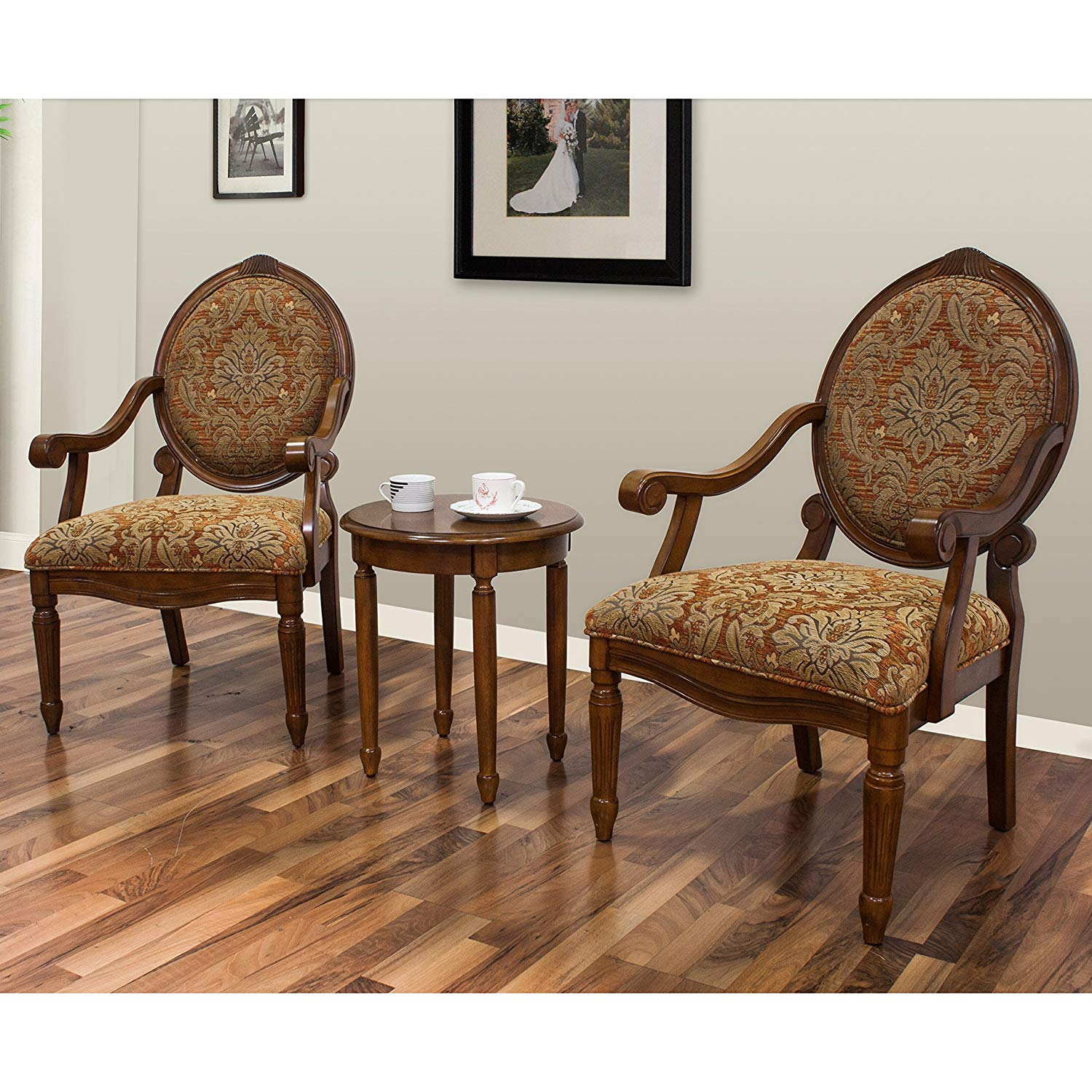 best master furniture miranda traditional living accent chair set with table room and kitchen dining wicker porch clothes brown lamp cocktail end sets contemporary style folding