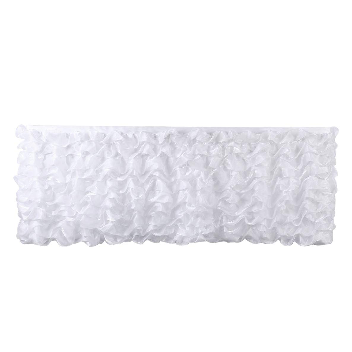best rated disposable table covers helpful customer reviews artistic accents tablecloth deluxe white tier skirt tutu decoration skirting for wedding baby shower patio chair