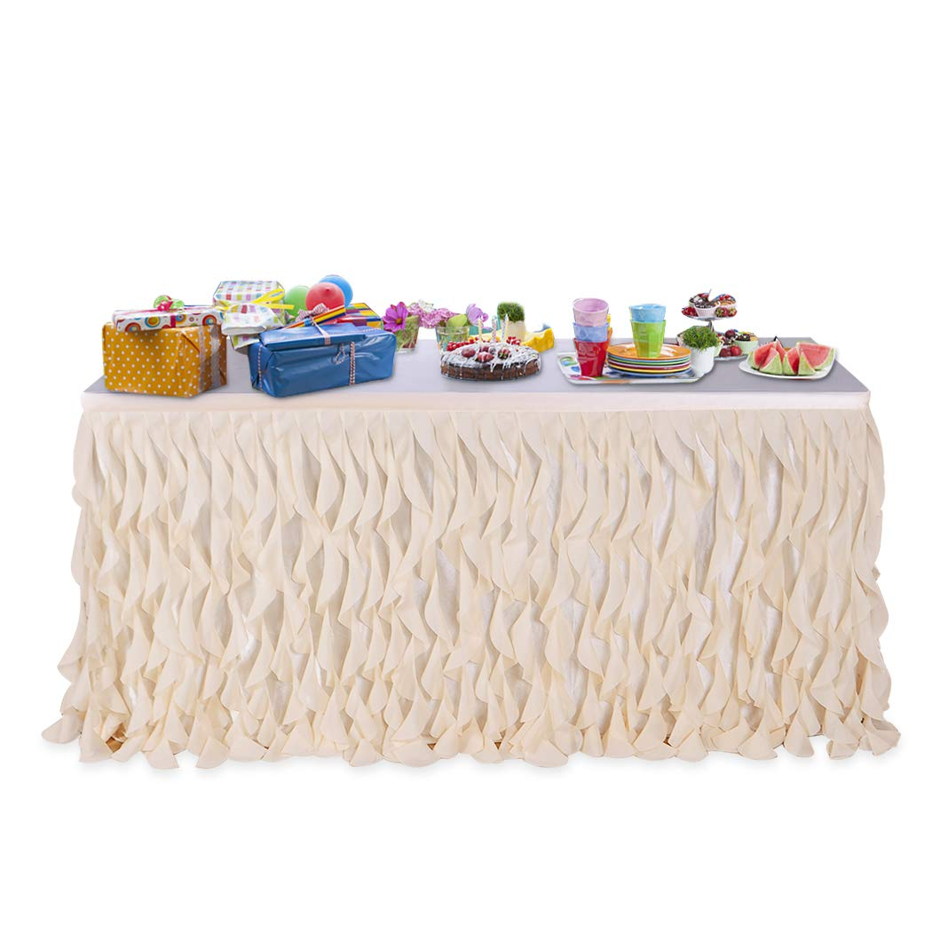 best rated disposable table skirts helpful customer reviews round accent leegleri ivory curly willow skirt tulle for rectangle verizon android tablet white acrylic side lucite