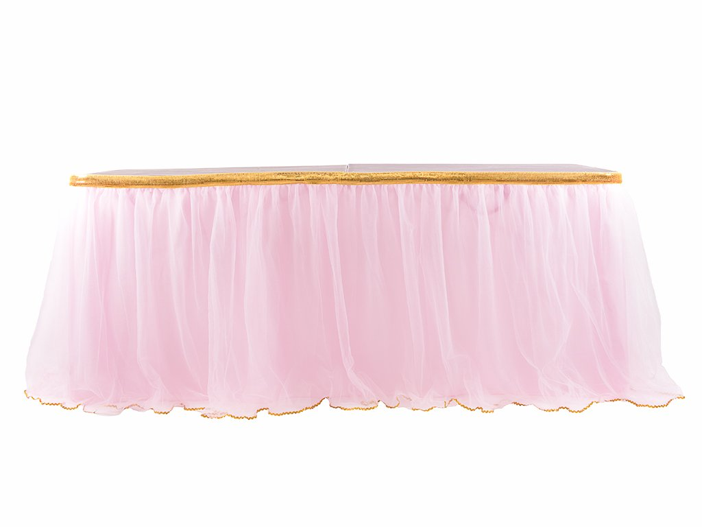 best rated disposable table skirts helpful customer reviews round accent pink skirt with gold sequin tulle for bridal shower wedding baby solid maple end tables side metal legs