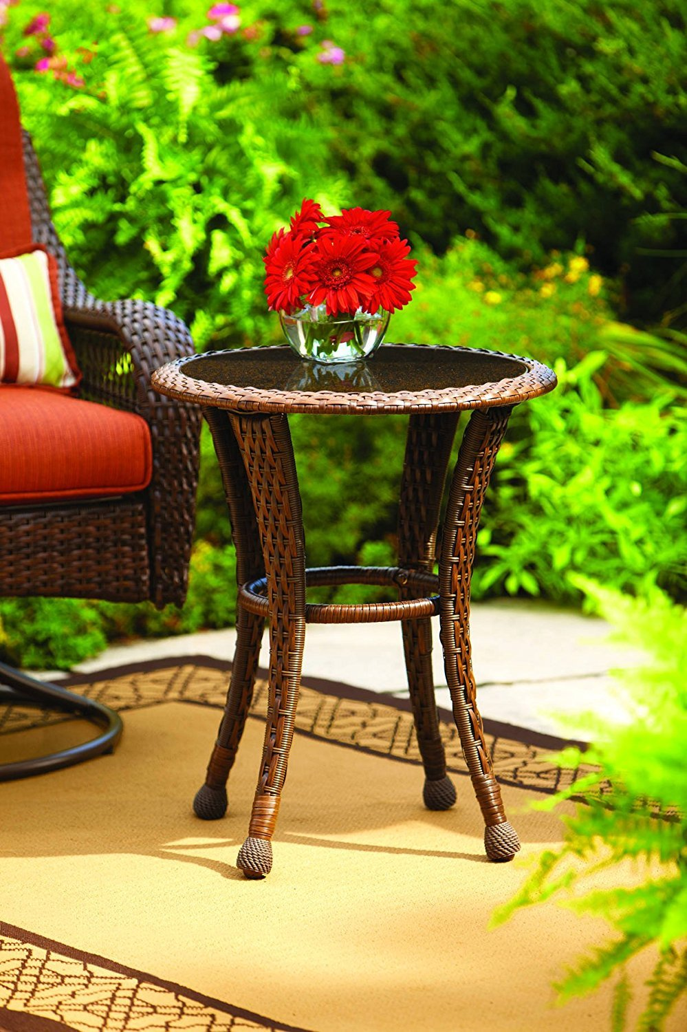 best rated outdoor side tables helpful customer reviews glass top table better homes and gardens azalea ridge wicker round coffee flip tile ashley furniture sofa sets narrow white