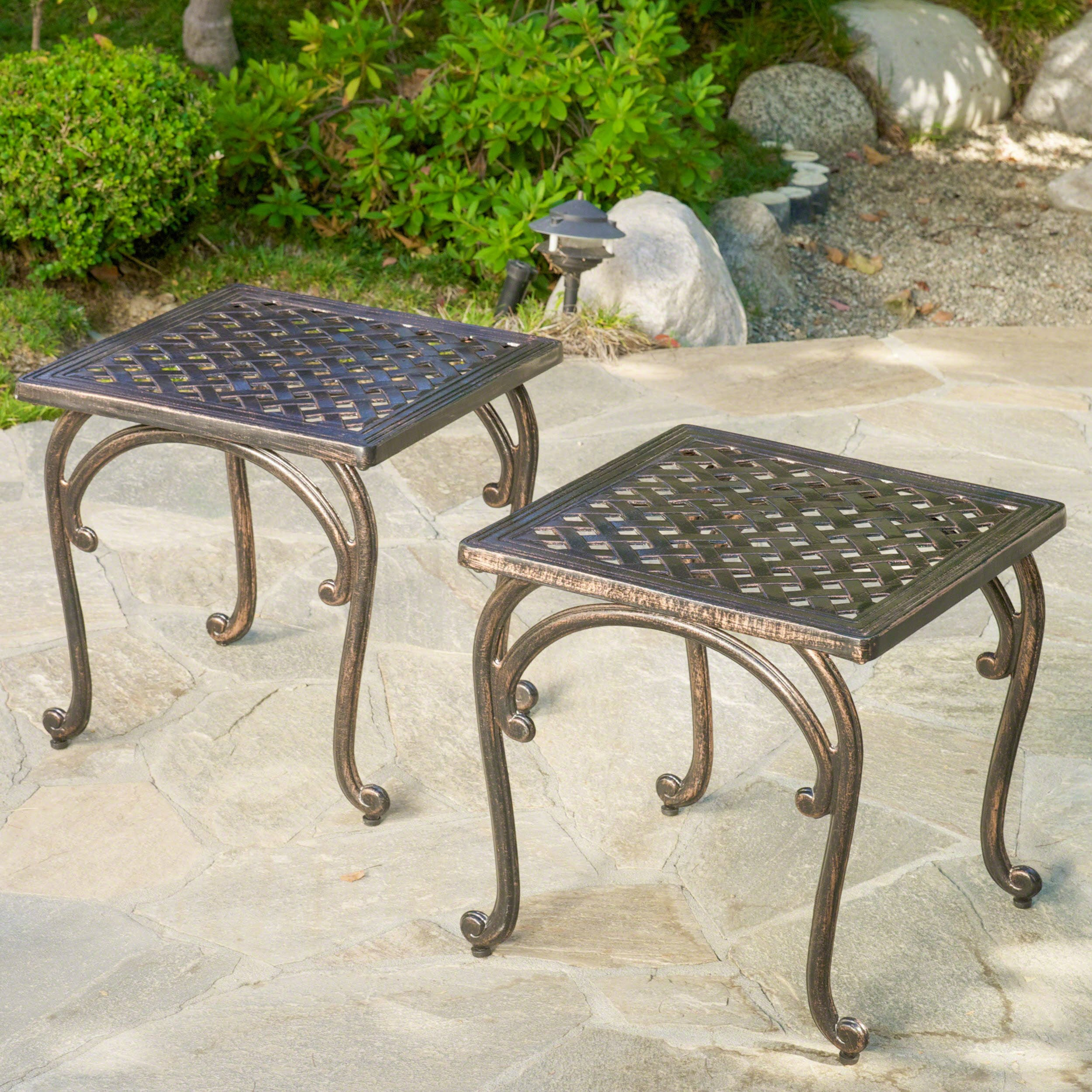 best rated outdoor side tables helpful customer reviews unique accent hyde cast aluminium table set product entryway bench ikea bedroom furniture packages tall hairpin legs vinyl
