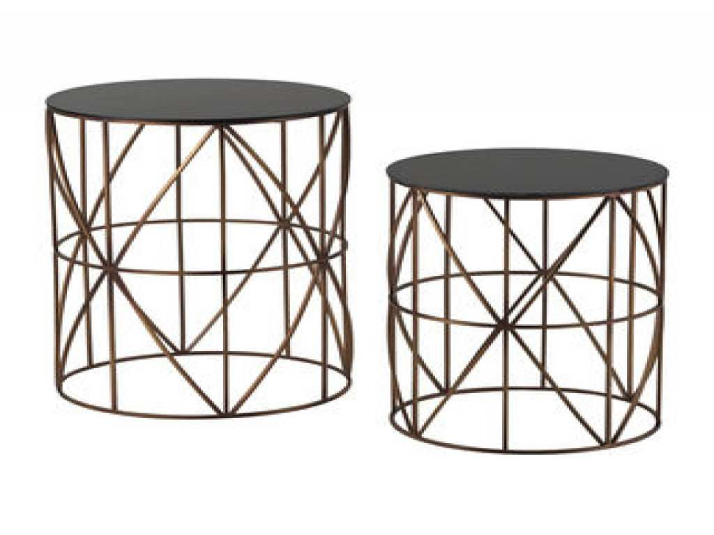best round metal side table for small accent neco unique tables blue tiffany style lamp shades gold coffee set bunnings cane chairs grey console all weather outdoor furniture cast