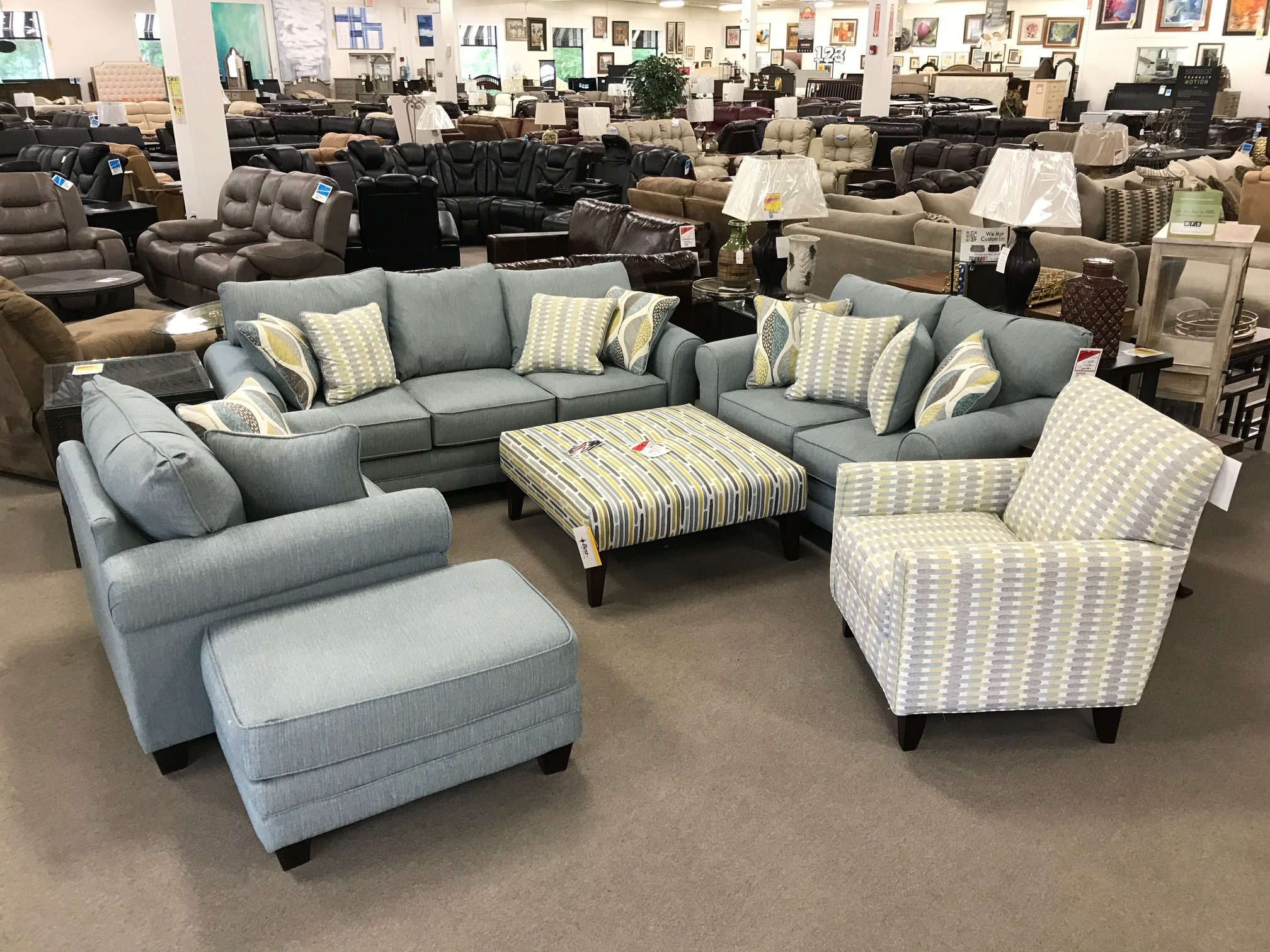 best sellers heavner furniture market img ave six piece fabric chair and accent table set aqua patterned living room vintage swedish modern armchair wide mirror outdoor occasional