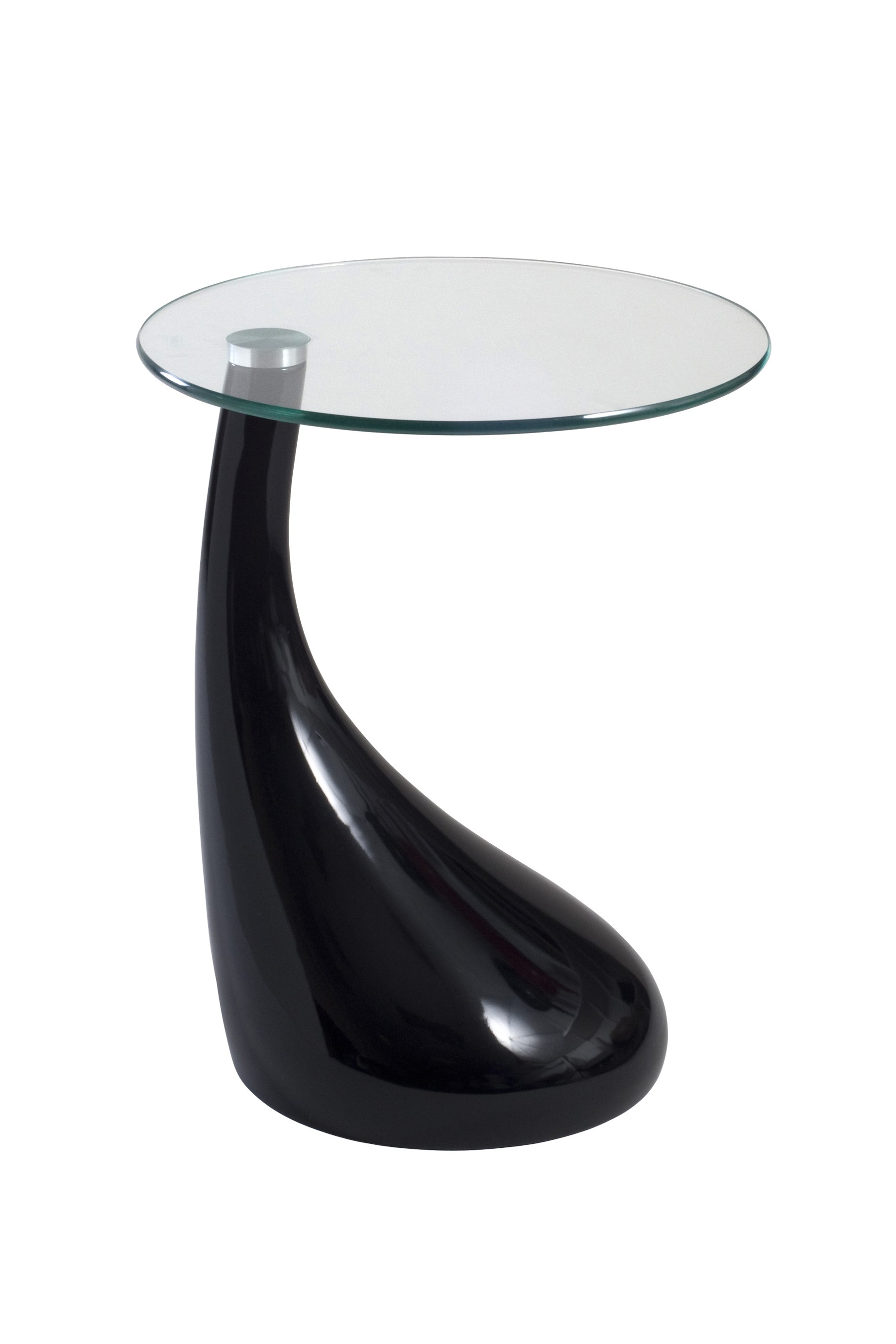 best small black accent table with round glass side curving acrylic pedestal base foyer furniture stained buffet lamps home wall decor west elm coffee desk bar height set backyard