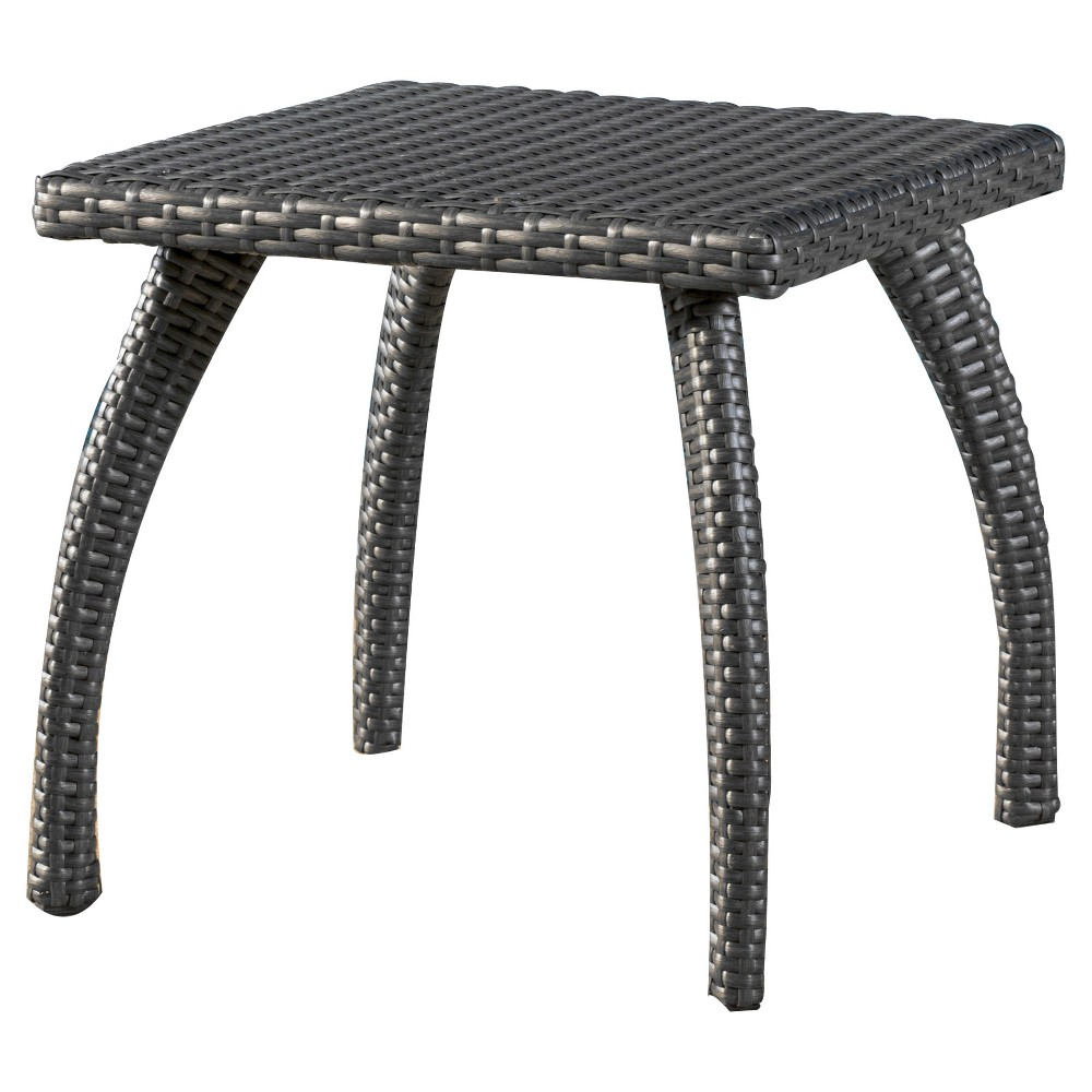 best tanglevale round end table ashley brown wicker patio accent honolulu grey christopher knight home slim console with storage tempered glass metal side wood top mainstays