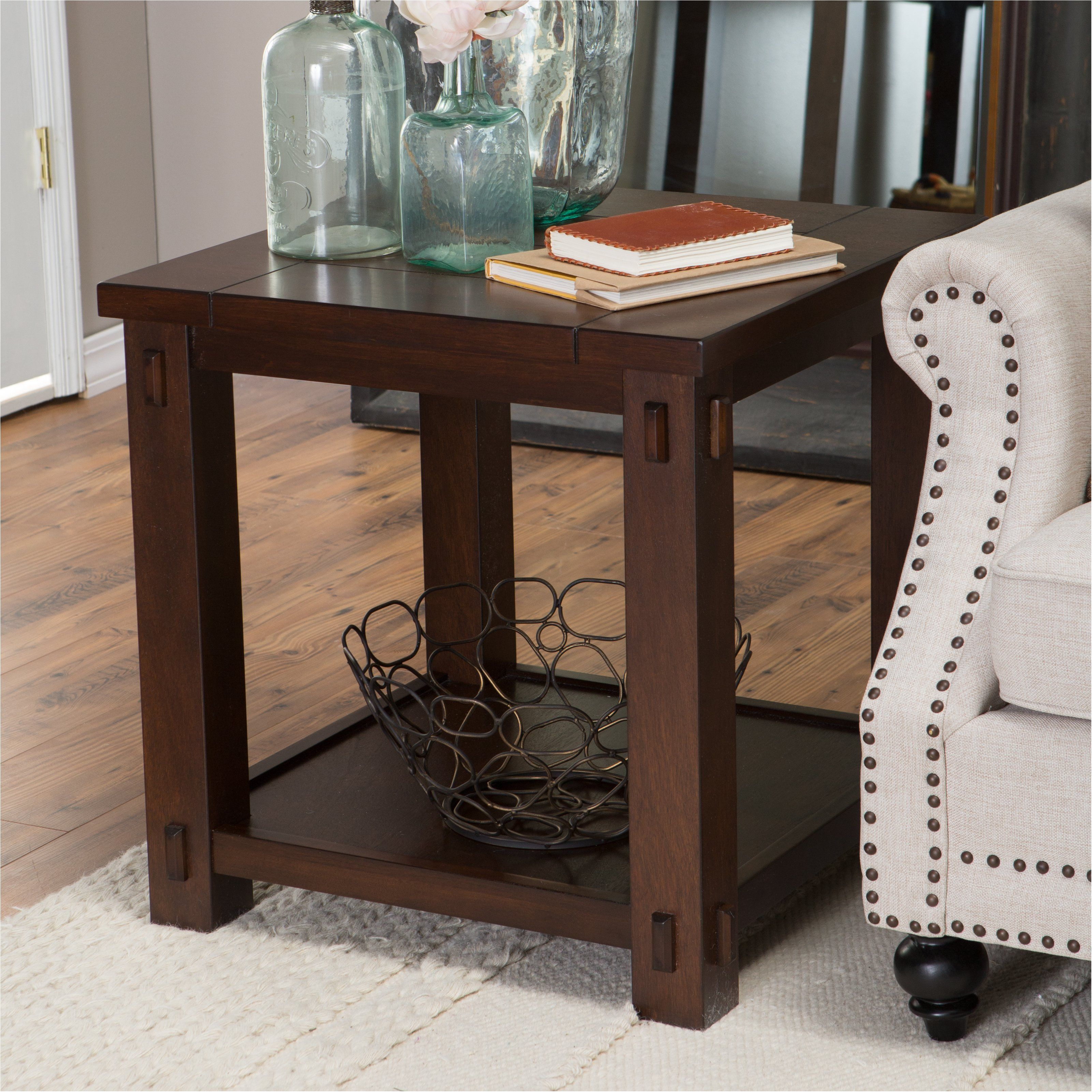 best winsome wood end table antique walnut kitchen dining excellently living bartlett square tables with usb ports accent marvelous red wingback chair lime green coffee tiny lamp
