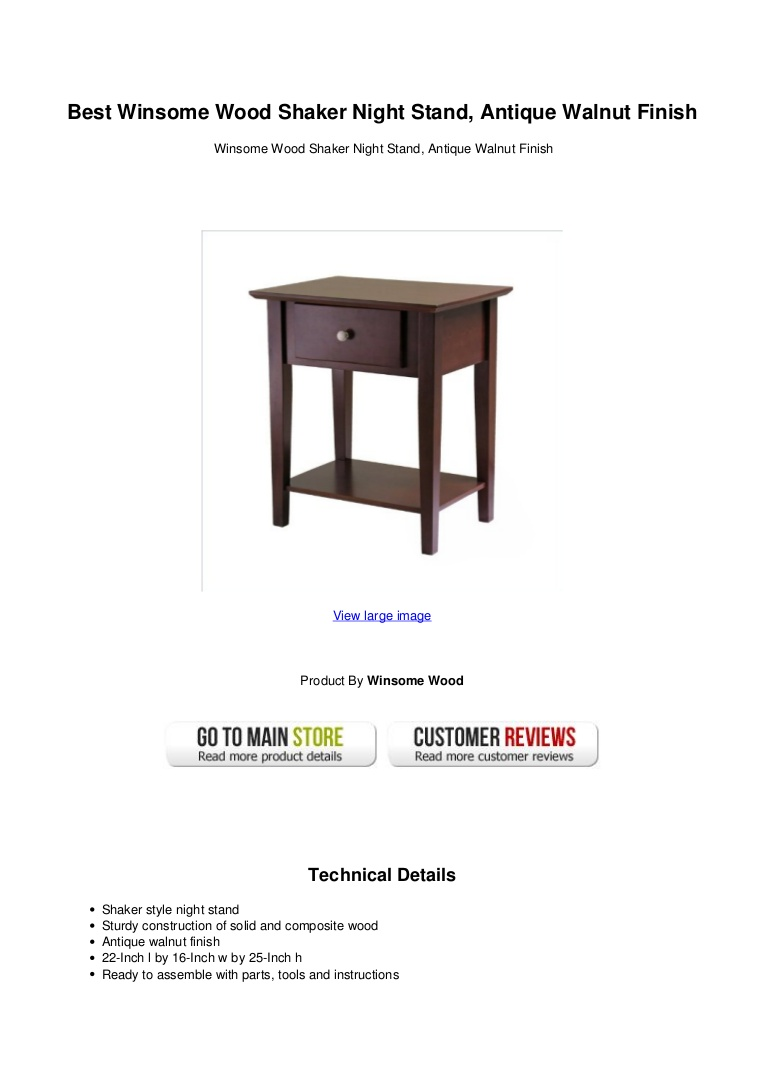 best winsome wood shaker night stand antique walnut finish bestwinsomewoodshakernightstandantiquewalnutfinish thumbnail accent table marble metal coffee unfinished bedside ikea