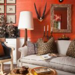 best work art family rooms wallpaper orange walls nate berkus glass agate accent table natural fibre wallcoverings such grasscloth sisal hemp and bamboo bring texture the clear 150x150