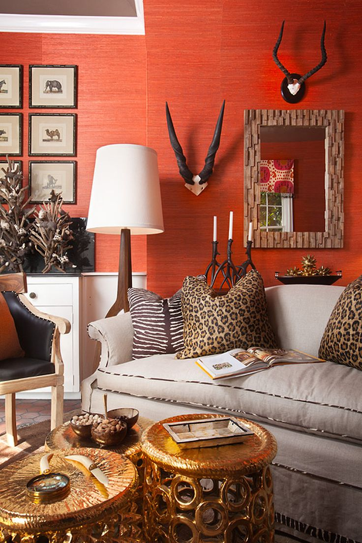 best work art family rooms wallpaper orange walls nate berkus glass agate accent table natural fibre wallcoverings such grasscloth sisal hemp and bamboo bring texture the clear