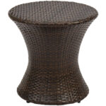 bestchoiceproducts best choice products outdoor patio furniture hourglass accent table wicker side black half round console ikea coffee retro retailers small porch chairs pier 150x150