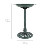 bestchoiceproducts best choice products outdoor vintage pedestal umbrella accent table bird bath decoration for garden yard painted tables industrial couch brass leg coffee high 150x150
